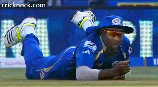 Kieron Pollard 3 drop catches video IPL