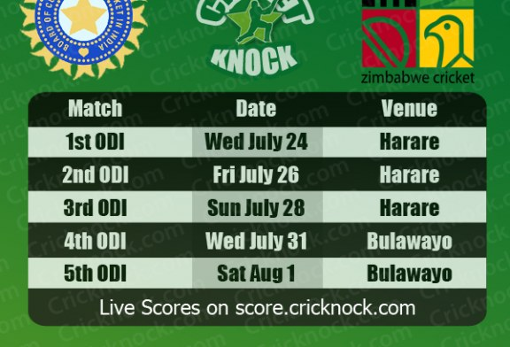 India vs Zimbabwe Fixtures 2013