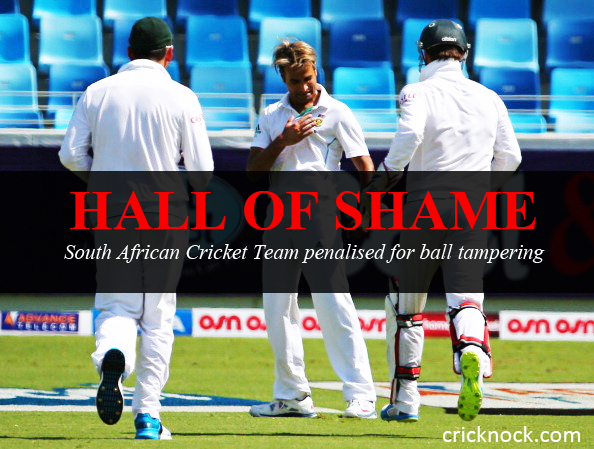 South African Cricket Team penalised for ball tampering