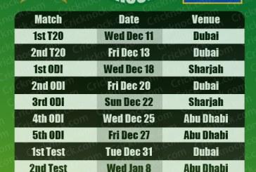 Pakistan vs Sri Lanka Fixtures 2013-14