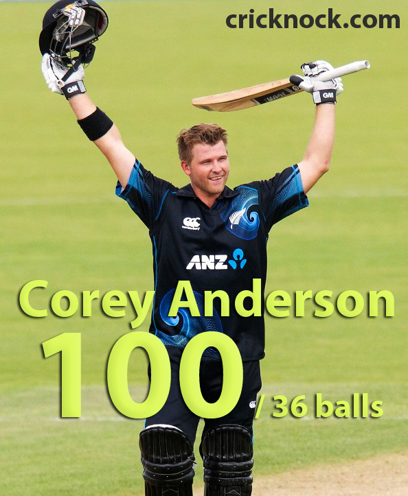 Corey Anderson Fastest ODI Century Video