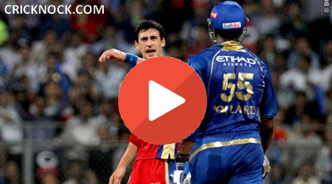 Kevin Pollard and Mitchell Starc Fight in IPL7