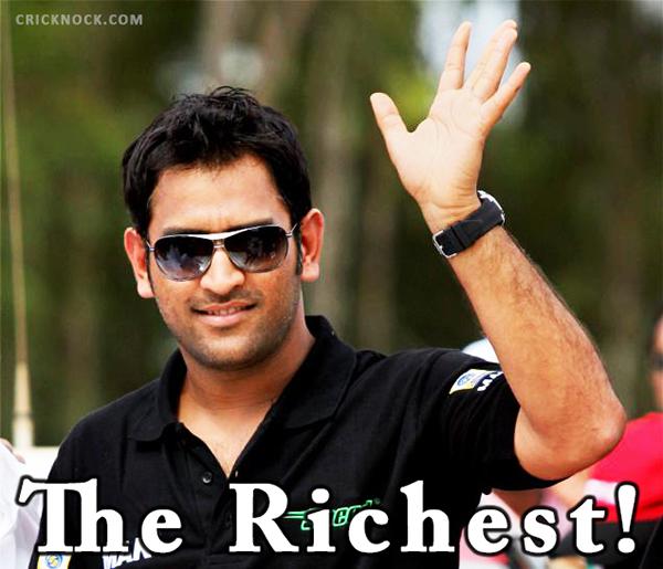 Mahendra Singh Dhoni the Richest Cricketer