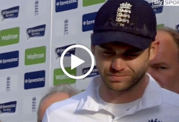 James Anderson Gets Emotional [Video]