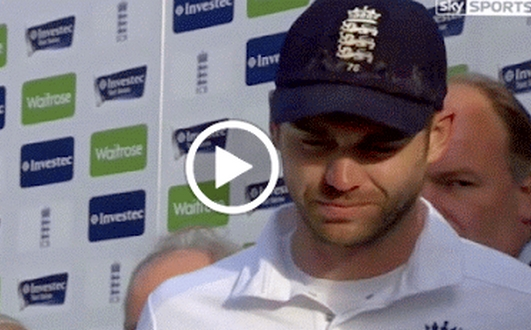 James Anderson Crying