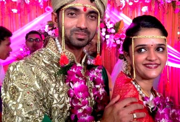 Indian Cricketer Ajinkya Rahane Gets Married | Pictures