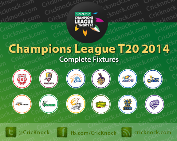 Champions League T20 - CLT20 2014 Fixtures and Schedules