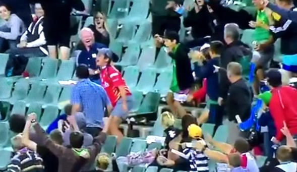 Best Catch Ever By A Spectator