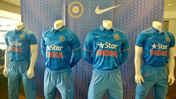Indian cricket team kit for ICC Cricket World Cup 2015