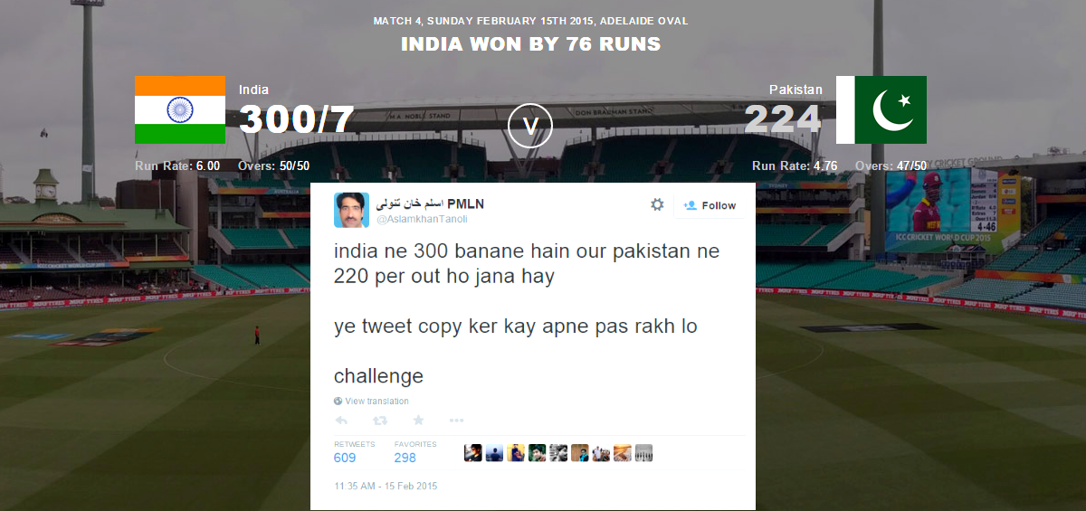 Perfect Match Prediction or Coincidence? Pakistani Man Had Predicted Pakistan Vs India Match Result