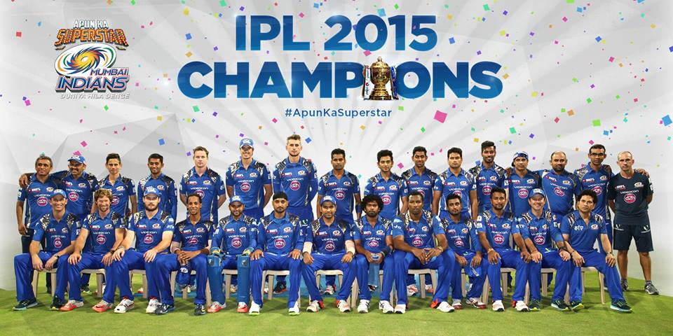 Mumbai Indians Win Indian Premier League - IPL T20 2015