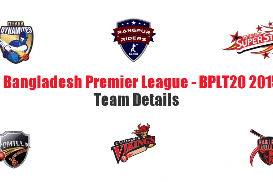 Bangladesh Premier League – BPLT20 2015 Team Details