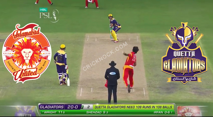Watch Islamabad United vs Quetta Gladiators PSL Highlights
