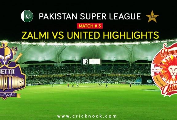 PSL T20 Match 3 | Watch Islamabad United vs Peshawar Zalmi Highlights