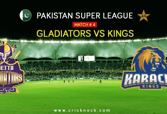 PSL T20 Match 4 | Watch Karachi Kings vs Quetta Gladiators Highlights