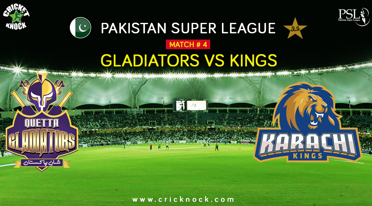 Karachi Kings vs Quetta Gladiators Highlights