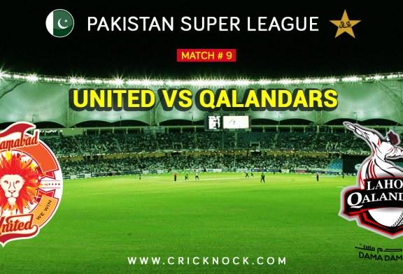 PSL T20 Match 9 | Watch Lahore Qalandars Vs Islamabad United Highlights