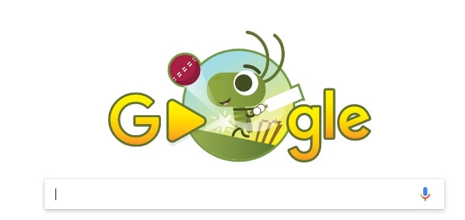 Google Doodle for ICC Champions Trophy