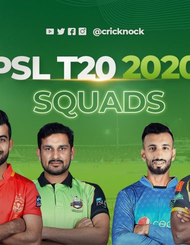PSL T20 2020 Squads